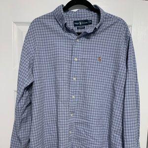 Vintage Ralph Lauren blue dress shirt size XL